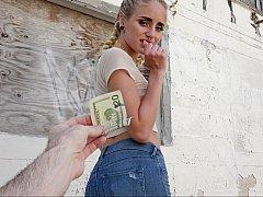 18 años, Americano, Dinero, Al aire libre, Pov, Público, Coño