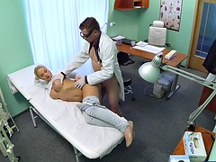 Blonde With Big Tits Wants To Be A Nurse