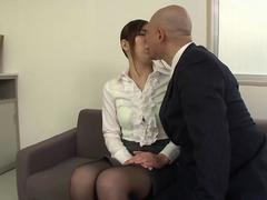 Beautiful Woman Teacher Writhes In High Leg Forced