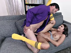 adria rae sucks a thick cock dad for secret
