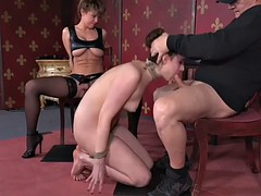 endza adair gets diminished and fucked by a mistress and a master