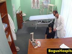 Real euro patient pussyfucked by her doctor