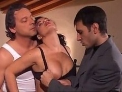 Verrückt, Frau, Gruppensex, Italienisch