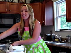 Blonde Trisha Uptown Celebrates Her BDay with Nude Cooking!