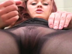 Sweetheart with knockers shows excellent cameltoe