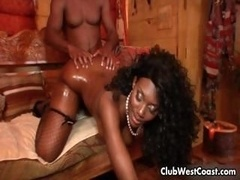 Horny black eager mom mom with milk sacks gets part2
