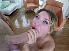 anna polina has her slutty mouth fucked by a gigantic dick