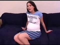SEXY PREGNANT 1 bushy  brunette in three-way
