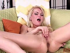 blonde babe skylar madison gets off!