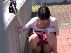 Hairy pussy asian pisses