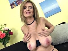 Mature princess mom with super big saggy tits