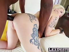 Anal, Rubia, Sexo duro, Interracial
