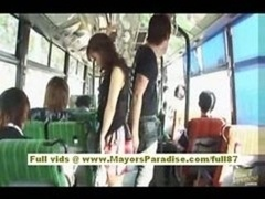 Mihiro Chinese adult video star enjoys a having an intercourse on the bus