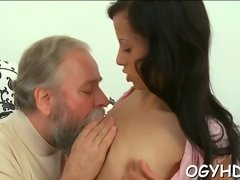 pretty  gal fucked by old guy video feature 1