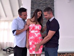 Busty milf dp screwed and spitroasted