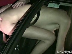 Kitty Jane's ass through the car window for anyone to fuck