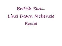 British Linzi Dawn Facial Cumsho