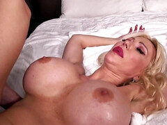 Mark Wood is dicking down busty blonde MILF Victoria Lobov