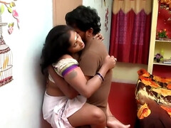 Telugu Aunty Boobs Pressing Romance With Mechanic