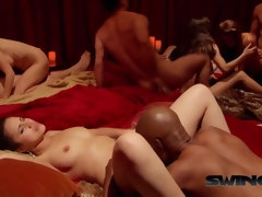 Hot swinger orgy after going for drinks