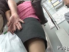 Hot public sex in the train
