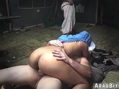 Gorgeous arab casting first time Sneaking in the Base