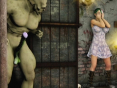 3D Girls vs Orc and Werewolf!