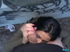 Unexpected outdoor pussy fuck with Coco De Mal