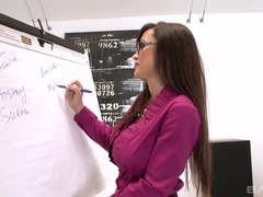 Professor Lisa Ann fucks a college jock to help him focus on math