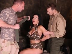 Angel with huge boobs Veronica Avluv likes rough double penetration