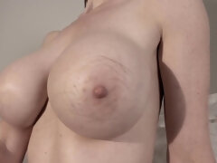 sexytemptation6969 - big natural tits and hairy pussy with big clit close up
