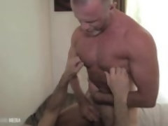 """Muscle daddy's hole plundered and plowed"""