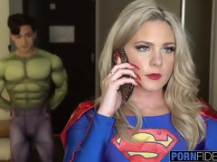 Big Penis Virgin Fan Fucks Super Girl in the Butt