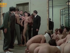 Crazy group sex scene from classic erotic thriller